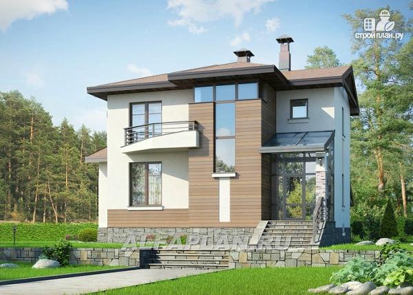 Фото 9: проект современный загородный дом с цоколем