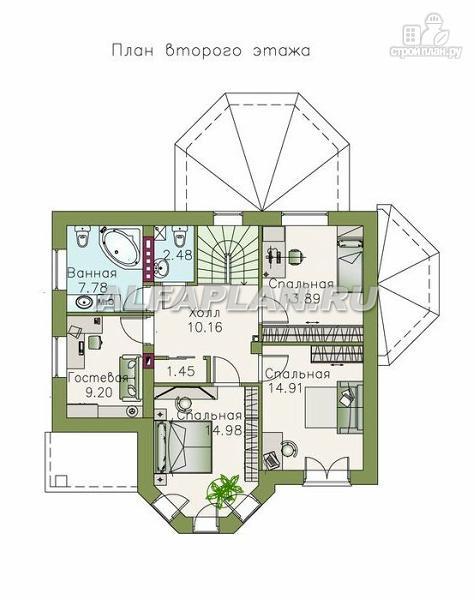 """Фото 3: проект """"Классика""""- красивый двухэтажный особняк с эркером"""