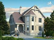 Фото: «Успех» -двухэтажный дом с верандой и эркером