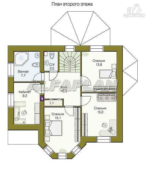 Фото 4: проект «Успех» -двухэтажный дом с верандой и эркером