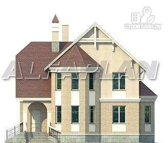 Фото 6: проект «Успех» -двухэтажный дом с верандой и эркером
