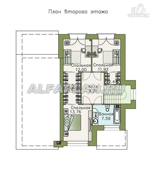 """Фото 3: проект """"Простор"""" - компактный коттедж с высокой просторной гостиной"""