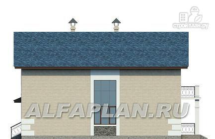 Фото 5: проект компактный дом с гаражом-навесом