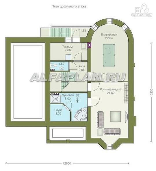 """Фото 2: проект """"Ретростилиса Плюс"""" - удобный дом с цокольным этажом"""