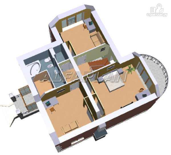 """Фото 5: проект """"Алегро""""- проект загородного дома с большой террасой"""