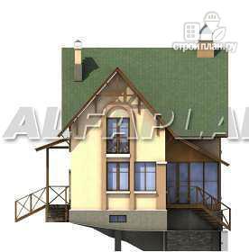 Фото 11: проект «Яблоко» - дом для узкого участка с рельефом