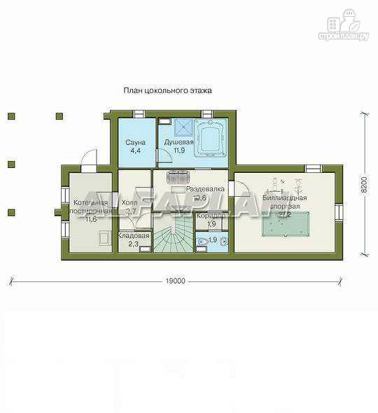 Фото 2: проект «Яблоко» - дом для узкого участка с рельефом