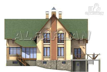 Фото 8: проект «Яблоко» - дом для узкого участка с рельефом