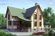 Проект «Яблоко» - дом для узкого участка с рельефом
