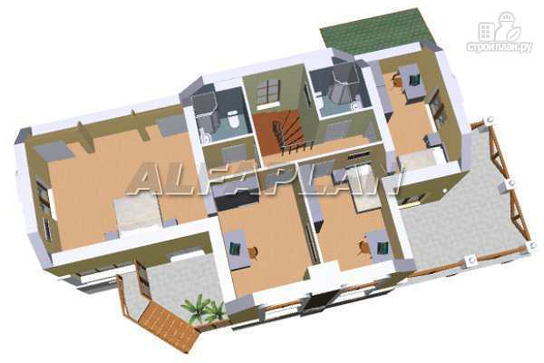 Фото 7: проект «Яблоко» - дом для узкого участка с рельефом