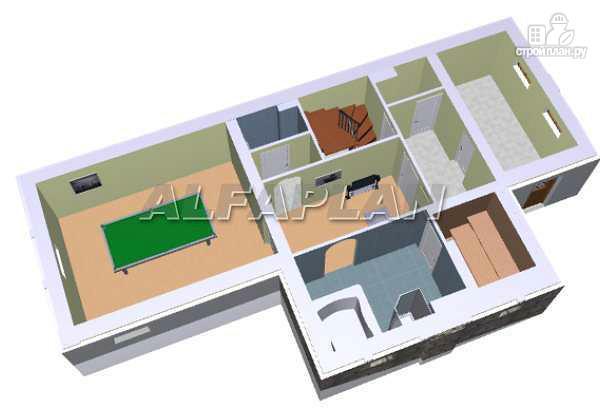 Фото 3: проект «Яблоко» - дом для узкого участка с рельефом