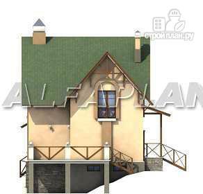 Фото 10: проект «Яблоко» - дом для узкого участка с рельефом