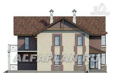 Фото 7: проект коттедж с террасой и балконом