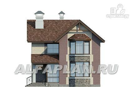 Фото 4: проект коттедж с террасой и балконом