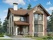 Проект коттедж с террасой и балконом