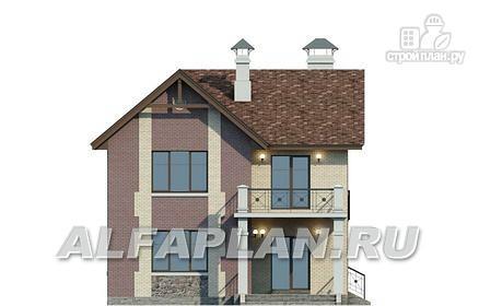 Фото 6: проект коттедж с террасой и балконом