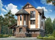 Проект компактный и вместительный загородный дом