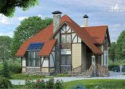 """Проект «Зонненхаус""""- коттедж с солнечной гостиной"""
