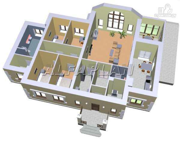 """Фото 3: проект """"Поместье"""" - одноэтажный дом с удобной планировкой"""