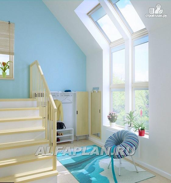 """Фото 15: проект """"Свой остров"""" - коттедж с полукруглой гостиной и мансардными окнами"""