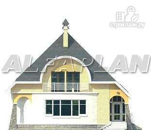 """Фото 6: проект """"Свой остров"""" - коттедж с полукруглой гостиной и мансардными окнами"""