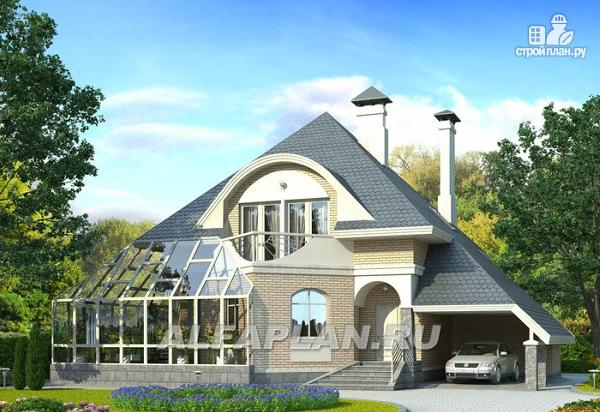"""Фото: проект """"Кристалл"""" - загородный дом с оранжереей"""