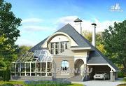 """Проект """"Кристалл"""" - загородный дом с оранжереей"""