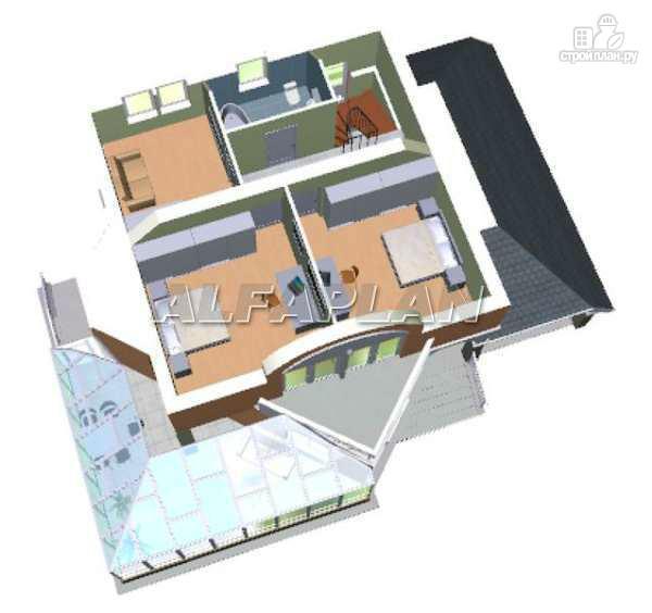 """Фото 5: проект """"Кристалл"""" - загородный дом с оранжереей"""