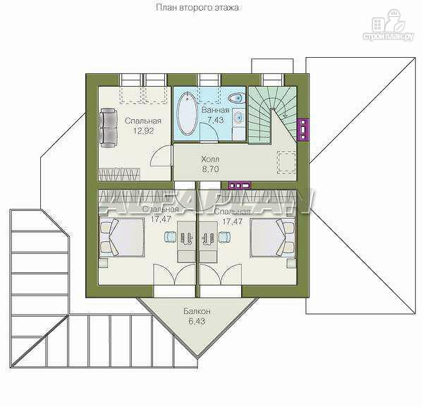 """Фото 4: проект """"Кристалл"""" - загородный дом с оранжереей"""