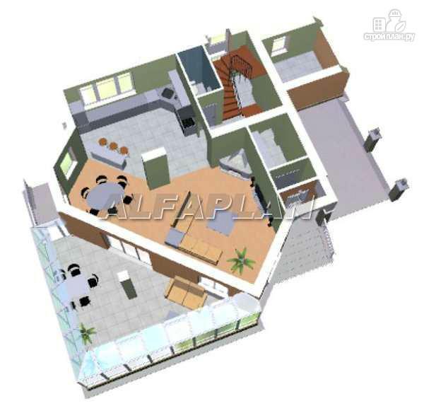 """Фото 3: проект """"Кристалл"""" - загородный дом с оранжереей"""