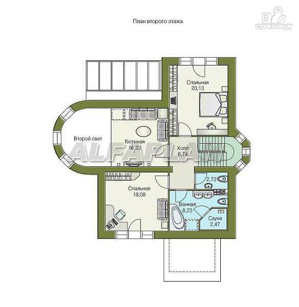 """Фото 4: проект """"Солярис"""" - загородный дом с двусветной гостиной"""