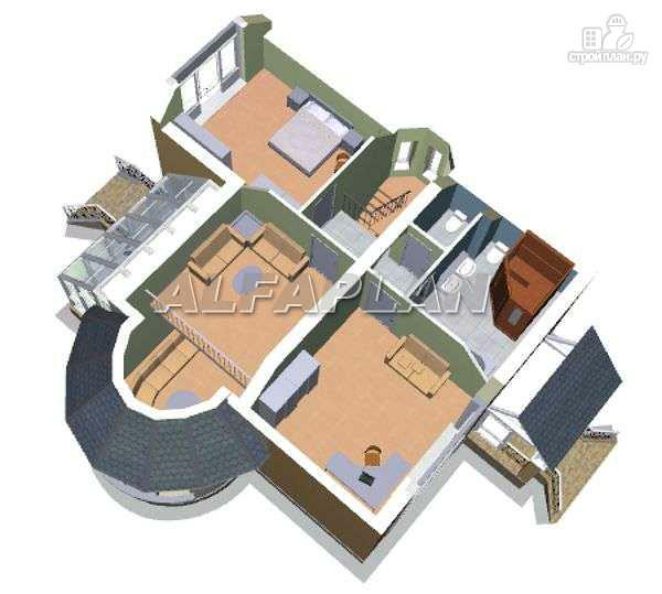 """Фото 5: проект """"Солярис"""" - загородный дом с двусветной гостиной"""