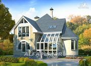 """Проект """"Солярис"""" - загородный дом с двусветной гостиной"""