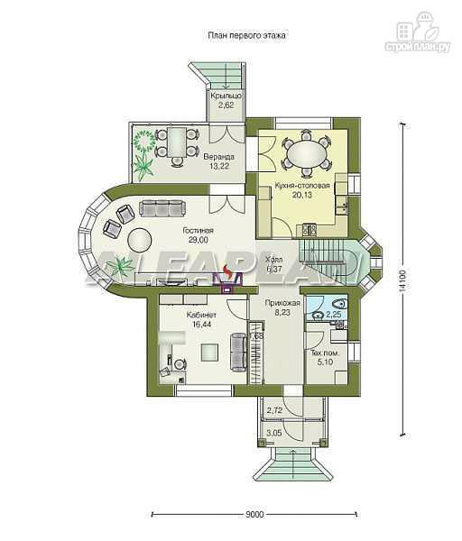 """Фото 2: проект """"Солярис"""" - загородный дом с двусветной гостиной"""