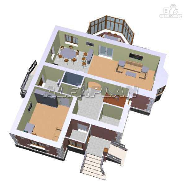 Фото 3: проект «Приорат» - двухэтажный коттедж с рустовкой
