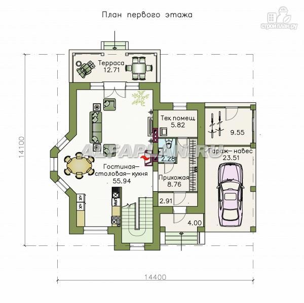 """Фото 2: проект """"Pro vita"""" - компактный дом с удобной планировкой"""