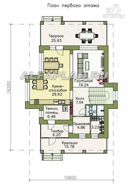 Фото 2: проект двухэтажный дом с компактной и удобной планировкой