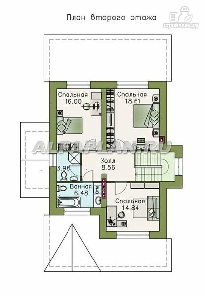 Фото 3: проект двухэтажный дом с компактной и удобной планировкой