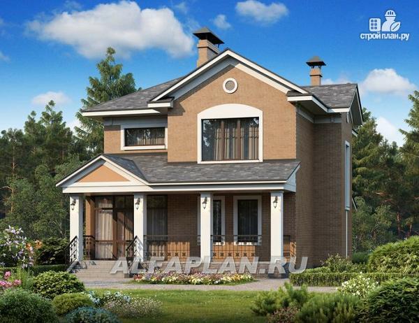 Фото: проект двухэтажный дом с компактной и удобной планировкой