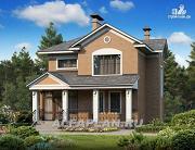 Фото: двухэтажный дом с компактной и удобной планировкой