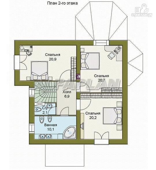 Фото 4: проект «Магистр» - двухэтажный дом с эркером