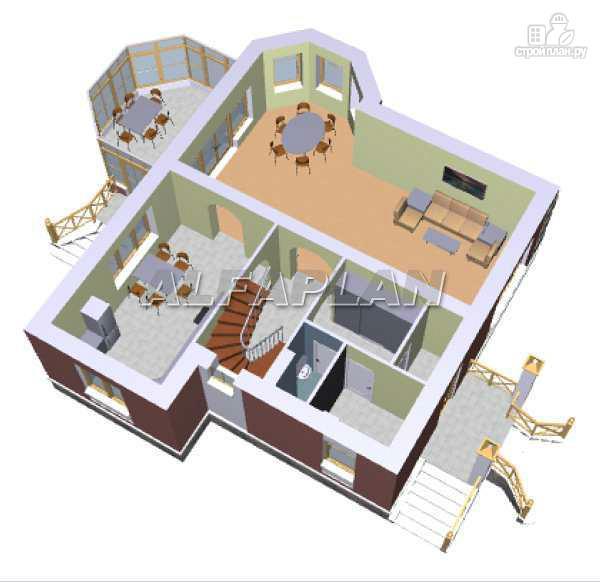 Фото 3: проект «Магистр» - двухэтажный дом с эркером