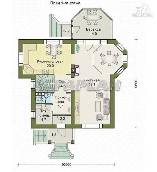 Фото 2: проект «Магистр» - двухэтажный дом с эркером