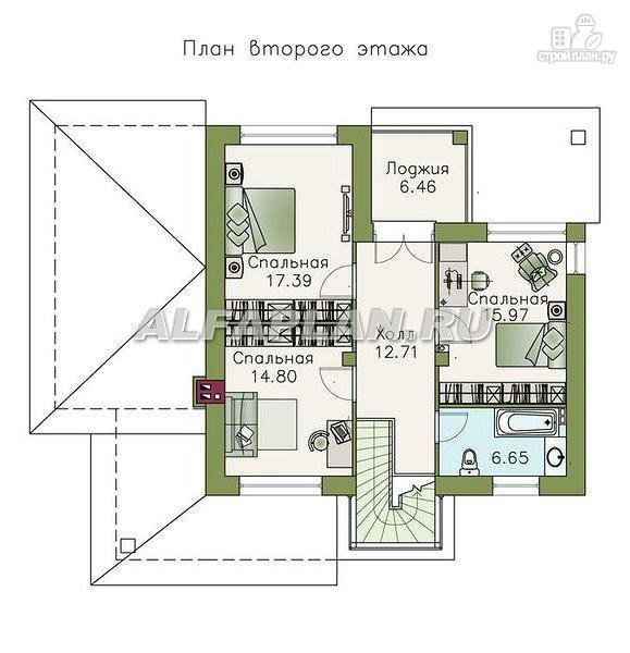 Фото 3: проект классический коттедж с современной планировкой
