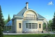 """Фото: """"Новелла"""" - архитектурная планировка с полукруглым зимним садом"""