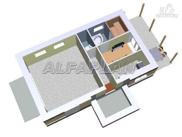"""Фото 3: проект """"Экспрофессо""""- компактный трехэтажный коттедж"""