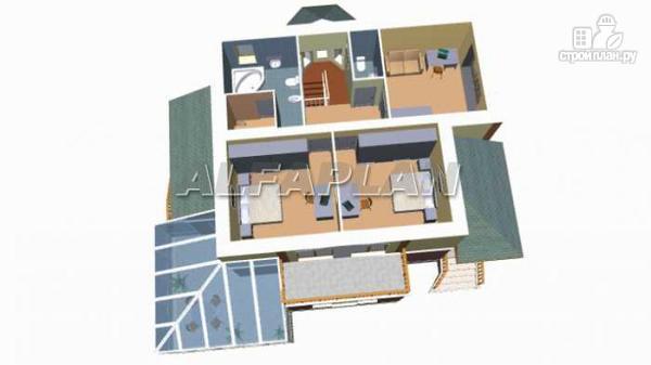 """Фото 5: проект """"Вита-Клаб""""-двухэтажный загородный дом с большим зимним садом"""