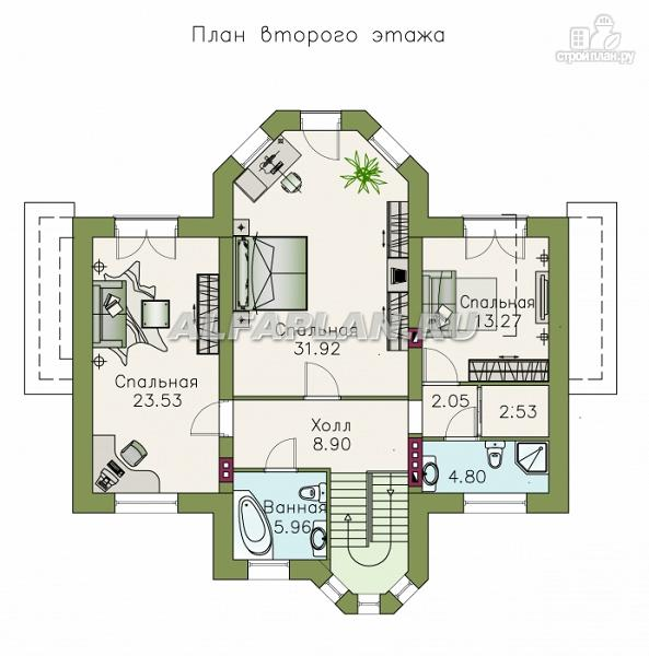 """Фото 4: проект """"Монплезир"""" - проект двухэтажного изысканного коттеджа"""