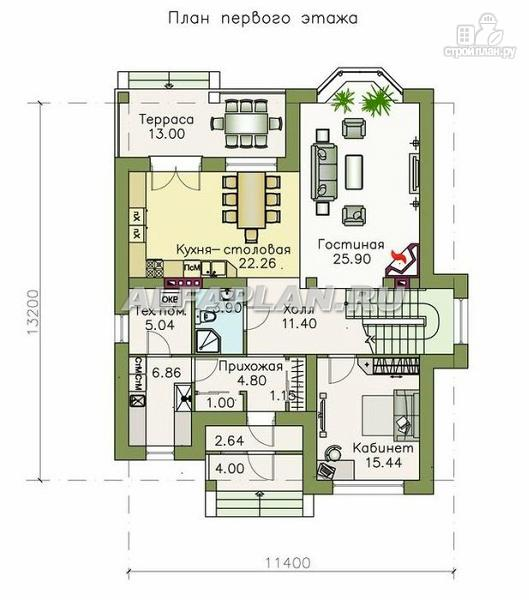 """Фото 2: проект """"Репутация"""" - дом с аристократическими фасадами и отличной планировкой"""