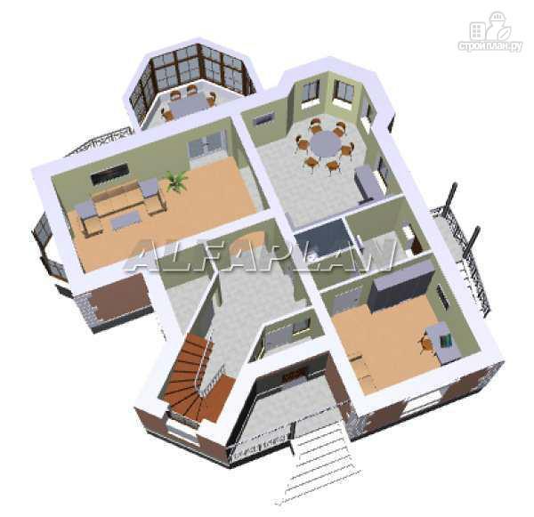 Фото 3: проект «Баттерфляй» - коттедж для углового участка